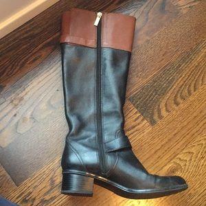 Knee high block heel fashion boots